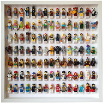105 Lego Minifigures white frame display