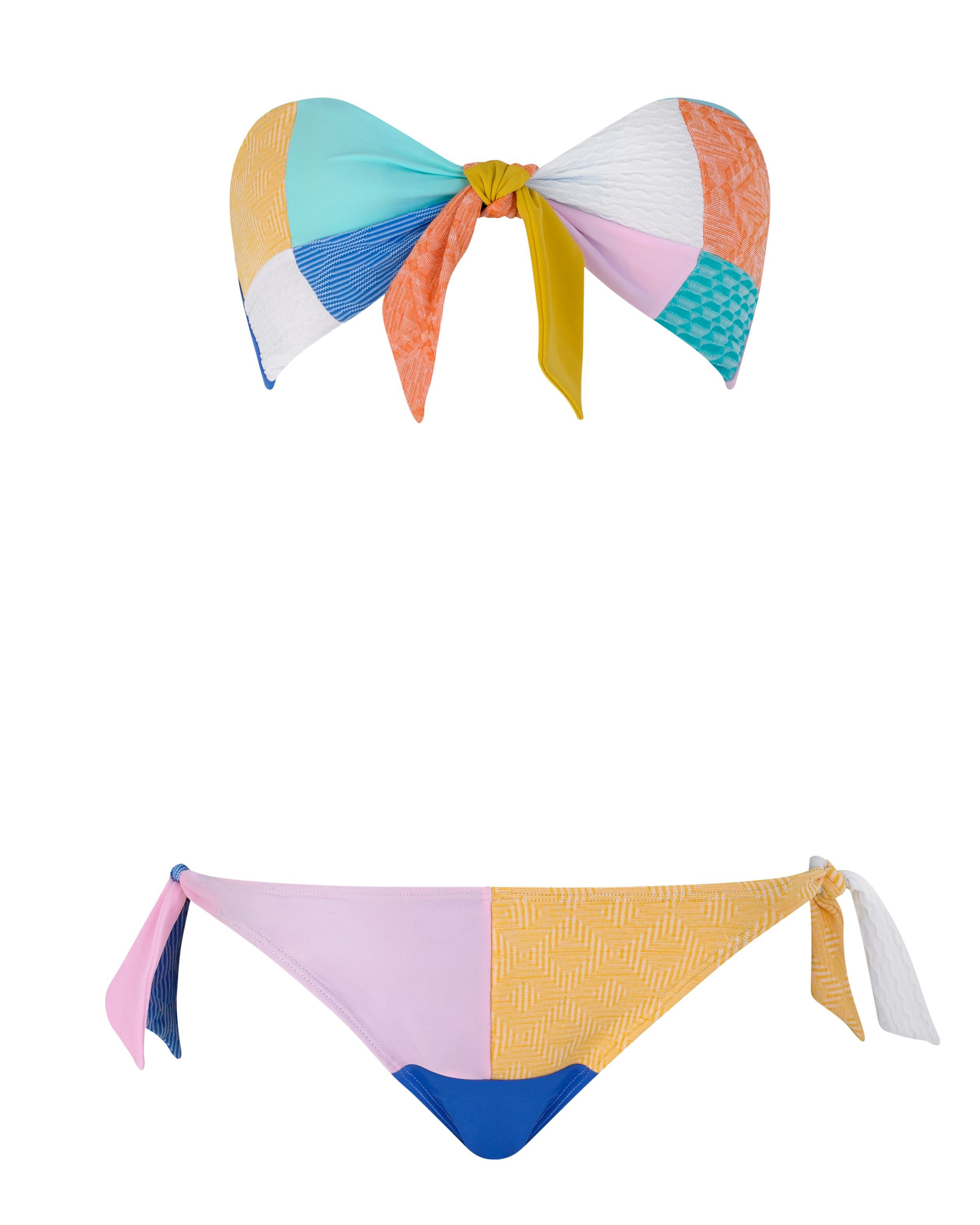 Bandeau Bikini Top in Island Hopping