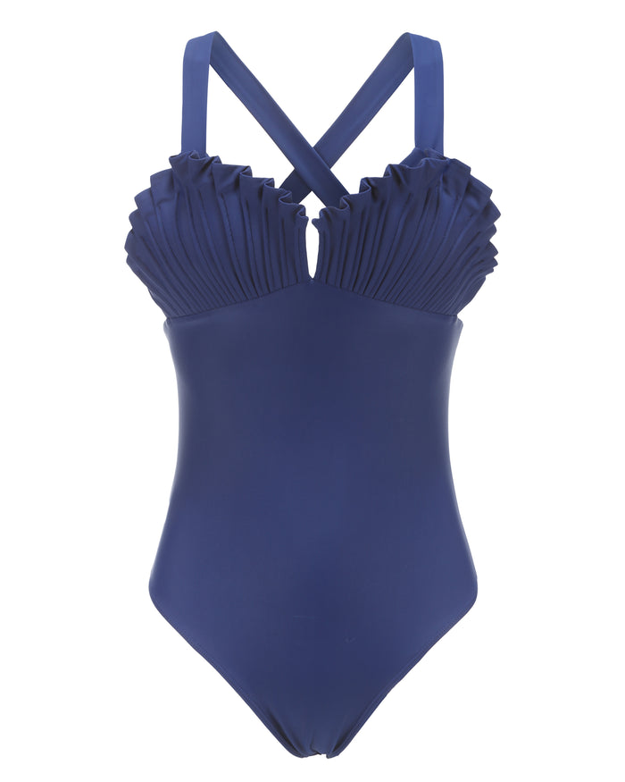 Shell Swimsuit in Aquaholic Navy