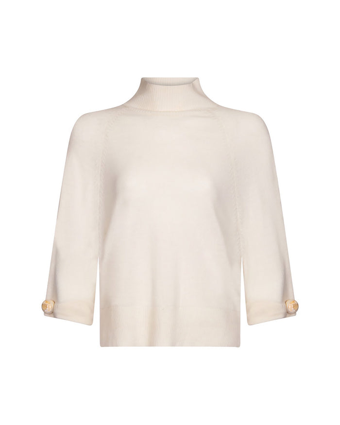 Flame Jumper in Pearl Knit Ivory
