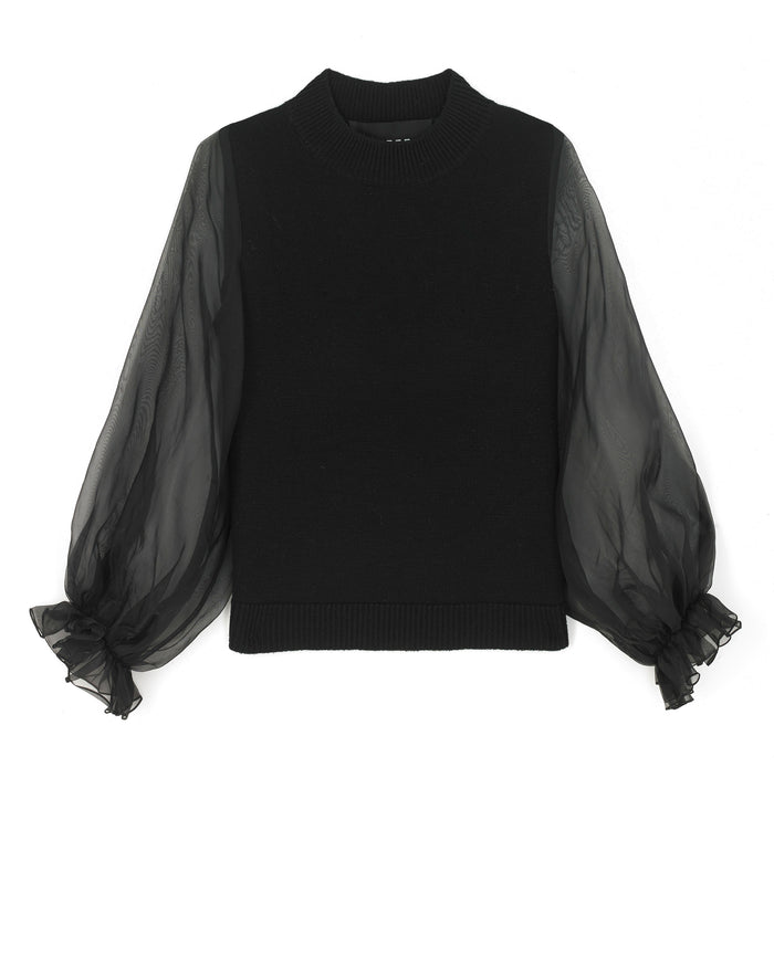 Julia Jumper in Knit/Organza