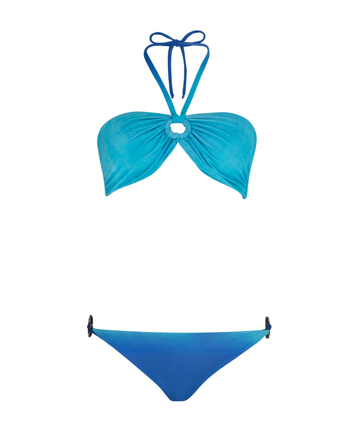Classic Bikini Bottom With Ring Detail Ombre Swim