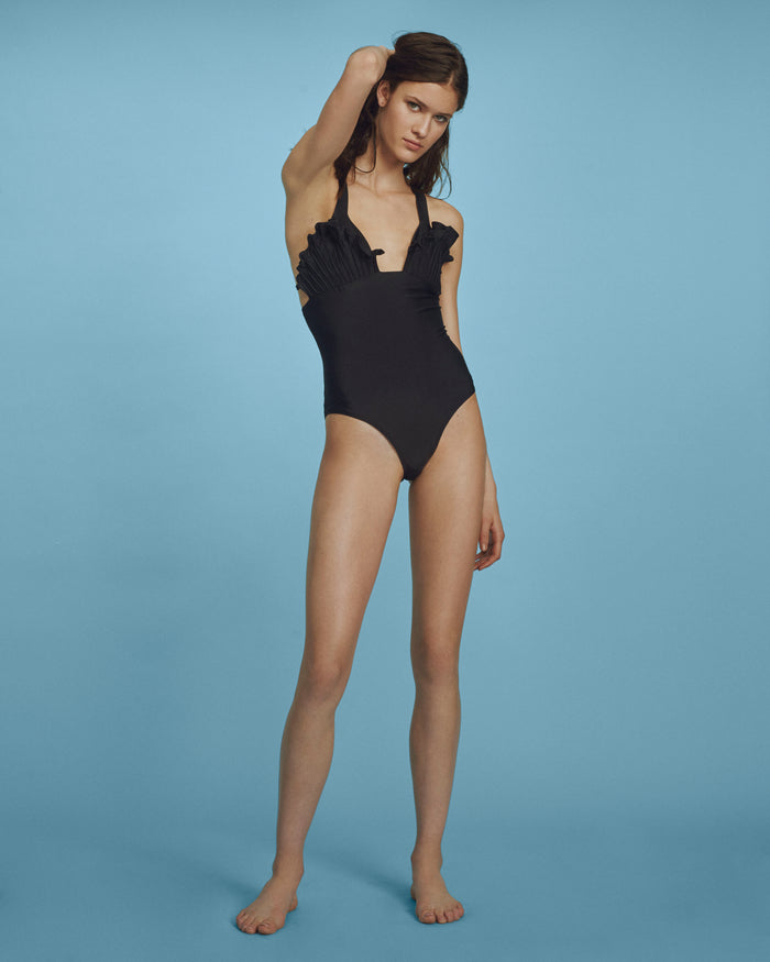 Shell Swimsuit Black