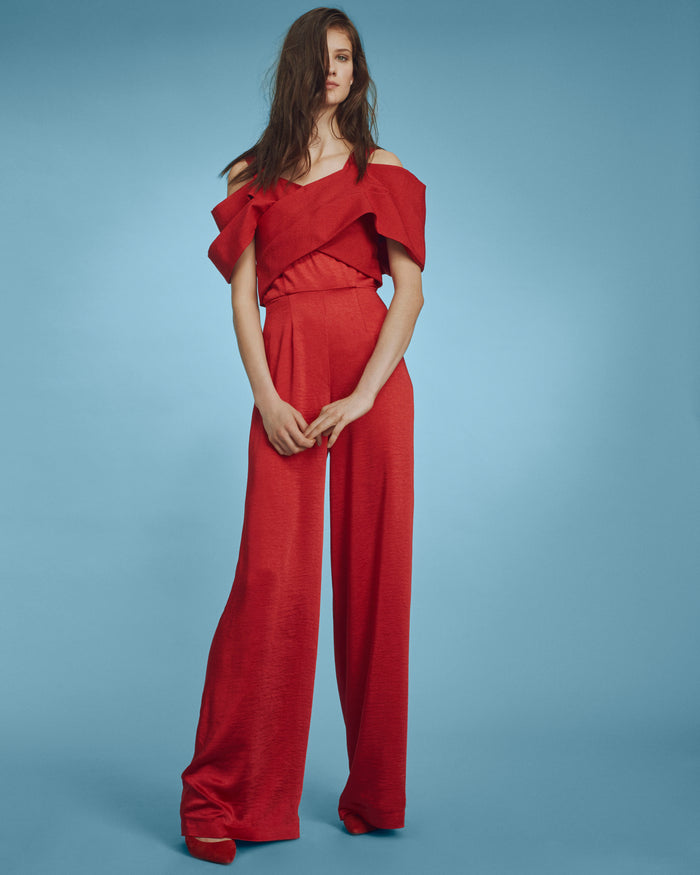 Vita Jumpsuit Red