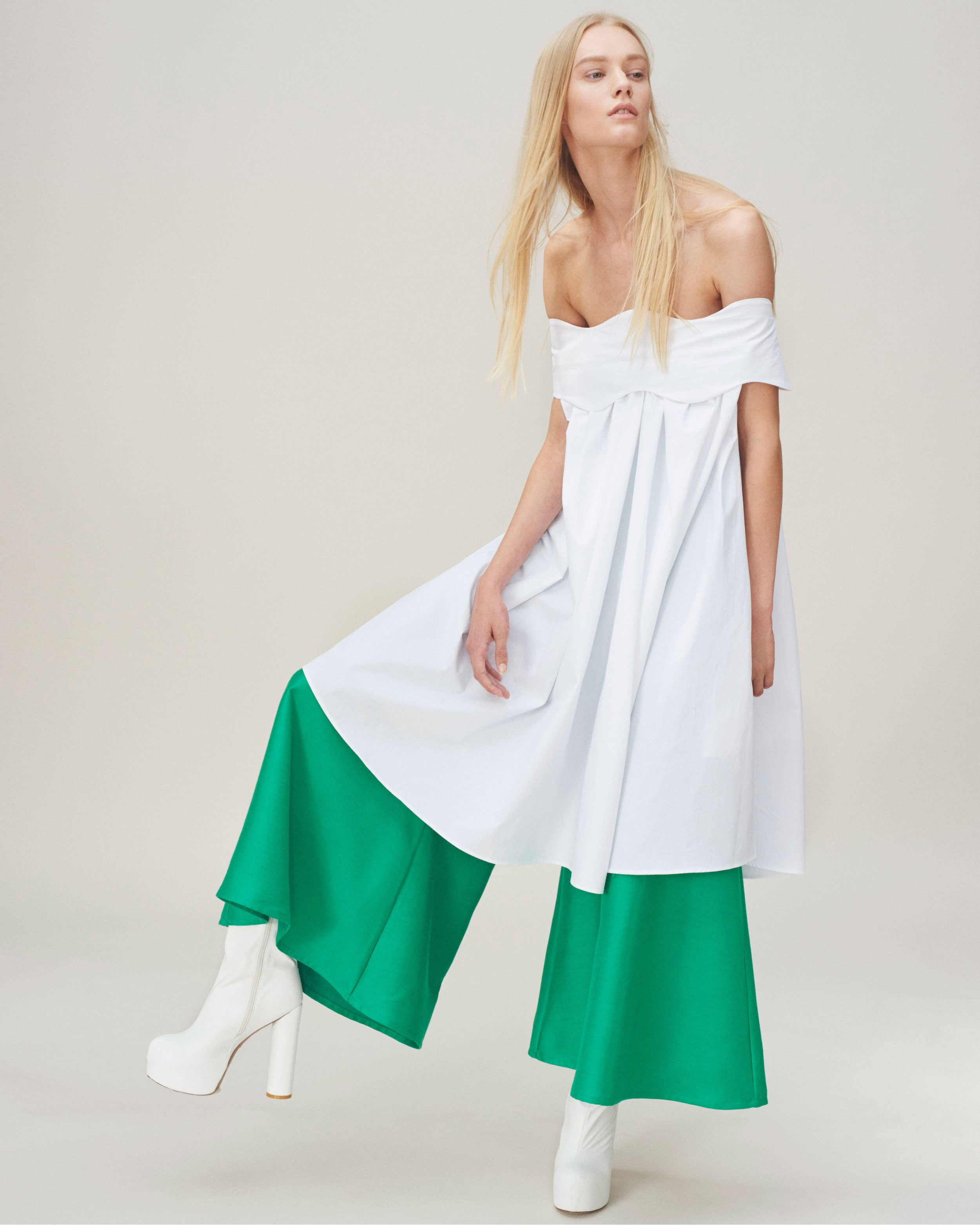 Green Cropped Kelly Trousers