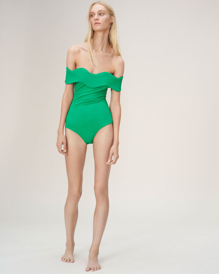 Wave Swimsuit Green