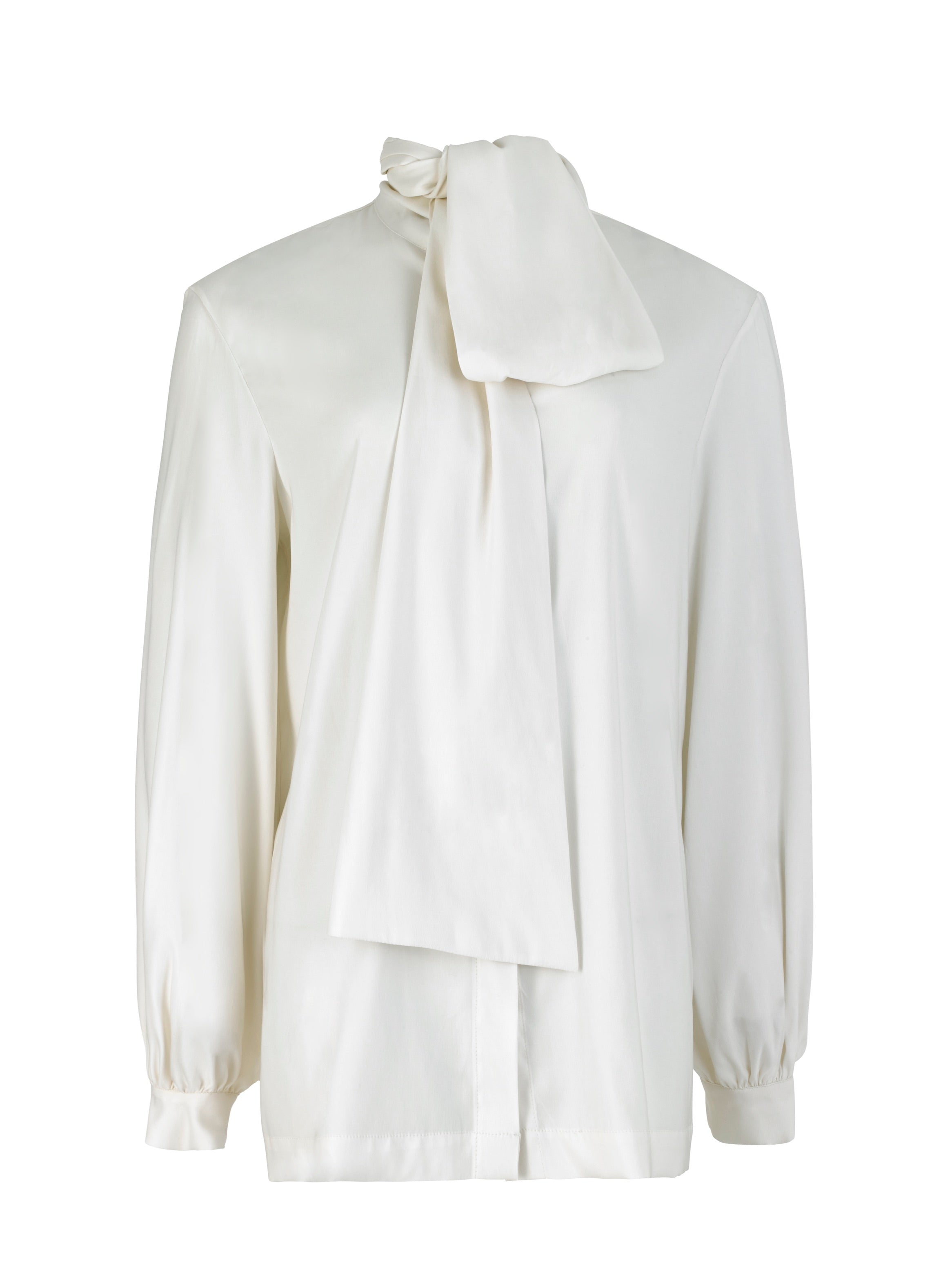 Bow Shirt White Cotton