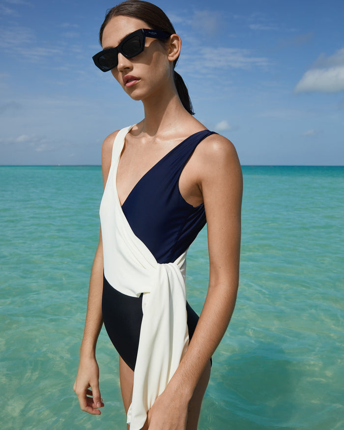 Copacabana Swimsuit in Ivory & Black