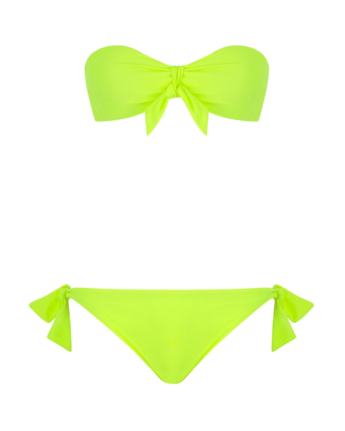 Bandeau Bikini Top in Electric Dream