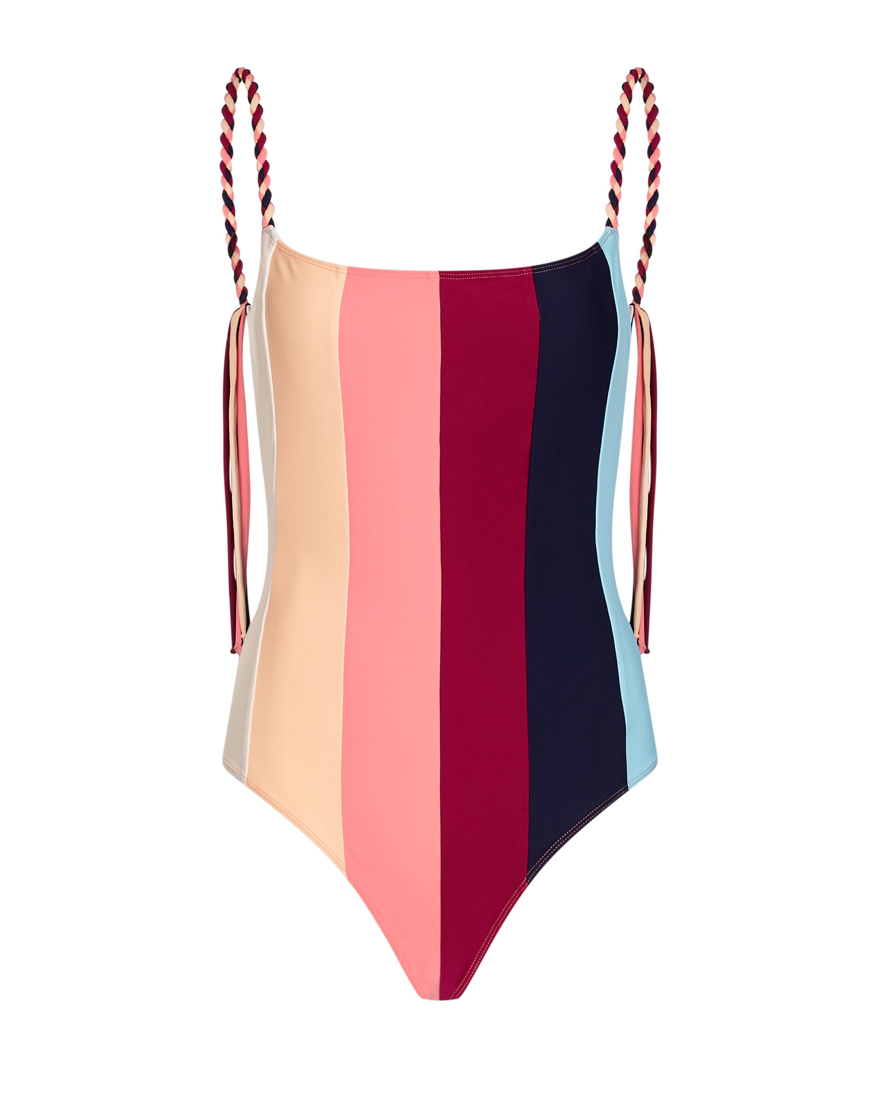 Strappy Swimsuit in Rainbow