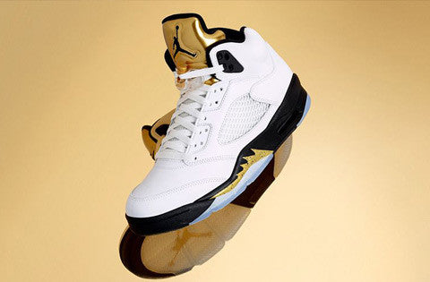 The Air Jordan 5 Retro 'White/Metallic Gold'