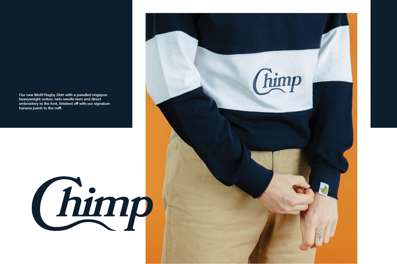 Chimp Motif Rugby Shirt