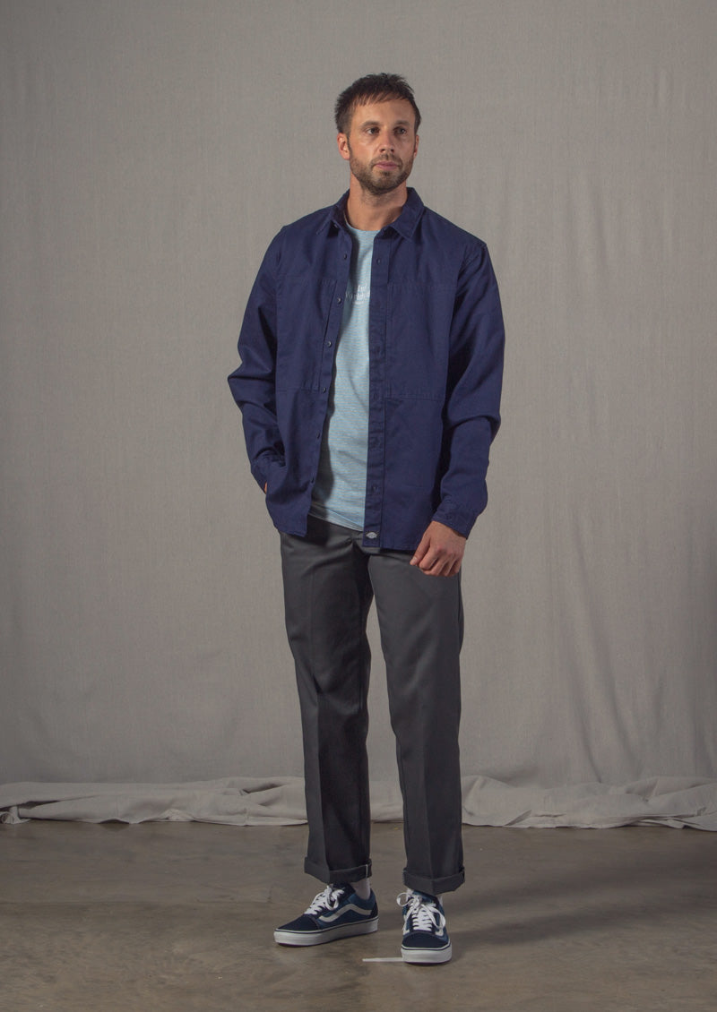 Dickies Avella Shirt, Dickies 873 Work Trousers, Vans Old Skool, HUF Royale Stripe Tee