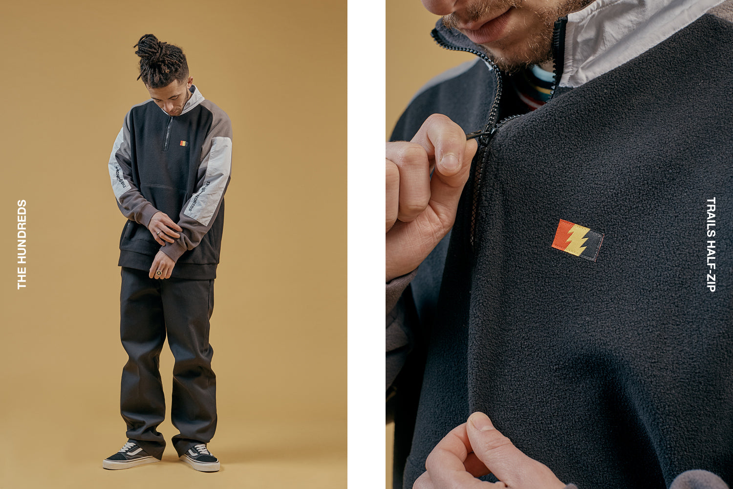 The Hundreds Trails Half Zip
