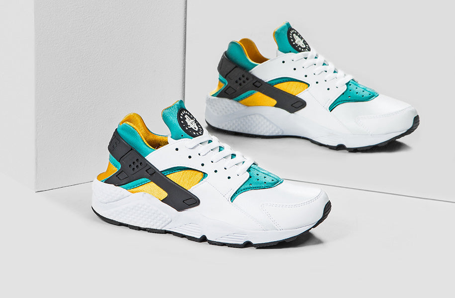 premium selection 292a8 c2837 ... germany we just received our stock of the nike air huarache og in white  sport turquoise