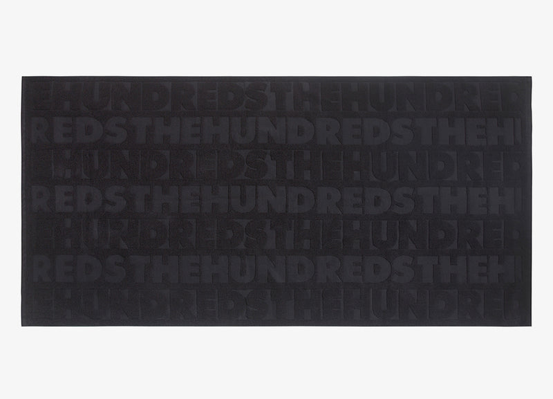 The Hundreds Embossed Towel - Black