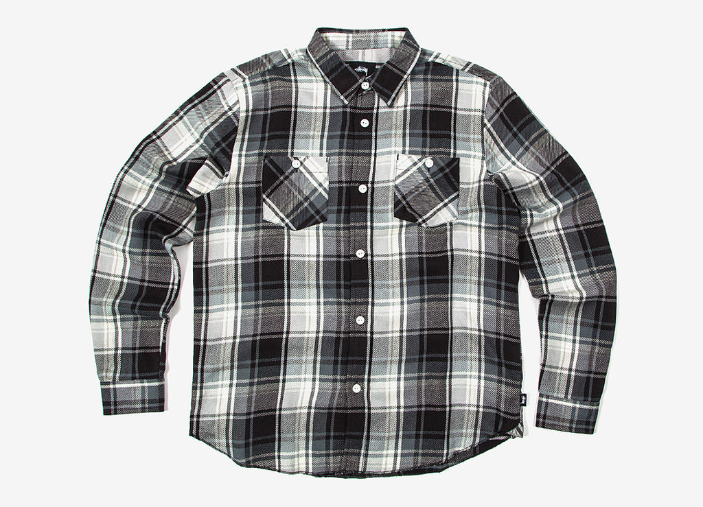 Stussy Big Mac Plaid Shirt - Black