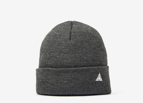 HUF Triangle Pin Service Beanie - Grey Heather