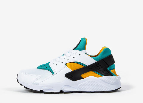 Nike Air Huarache OG Shoes - White/Sport/Turquoise/University Gold