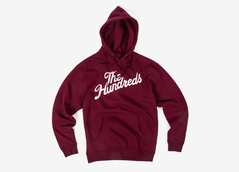 The Hundreds Forever Slant Pullover Hoody - Cardinal/White