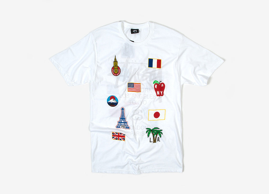 Stussy WT Flags T Shirt - White