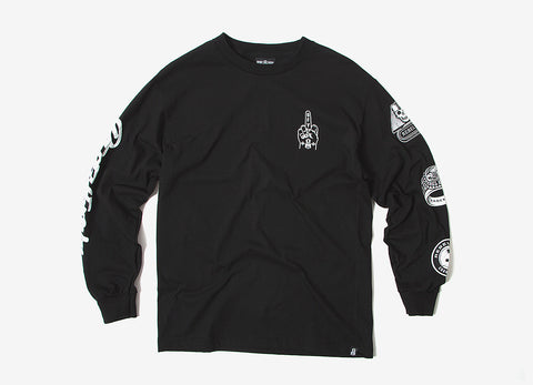 Rebel8 Forever Fucked Long Sleeve T Shirt - Black