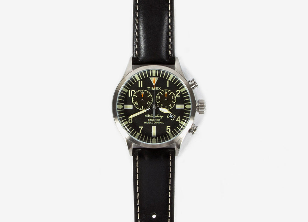 Timex Waterbury Chronograph Watch - Black