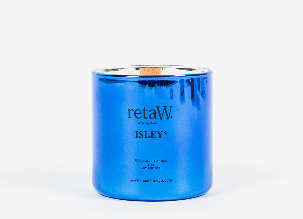 retaW Fragrance Candle / Metallic Series - Isley*