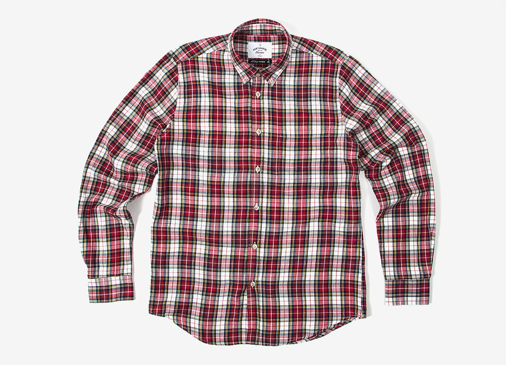 Portuguese Flannel Estaca Shirt - Red/White