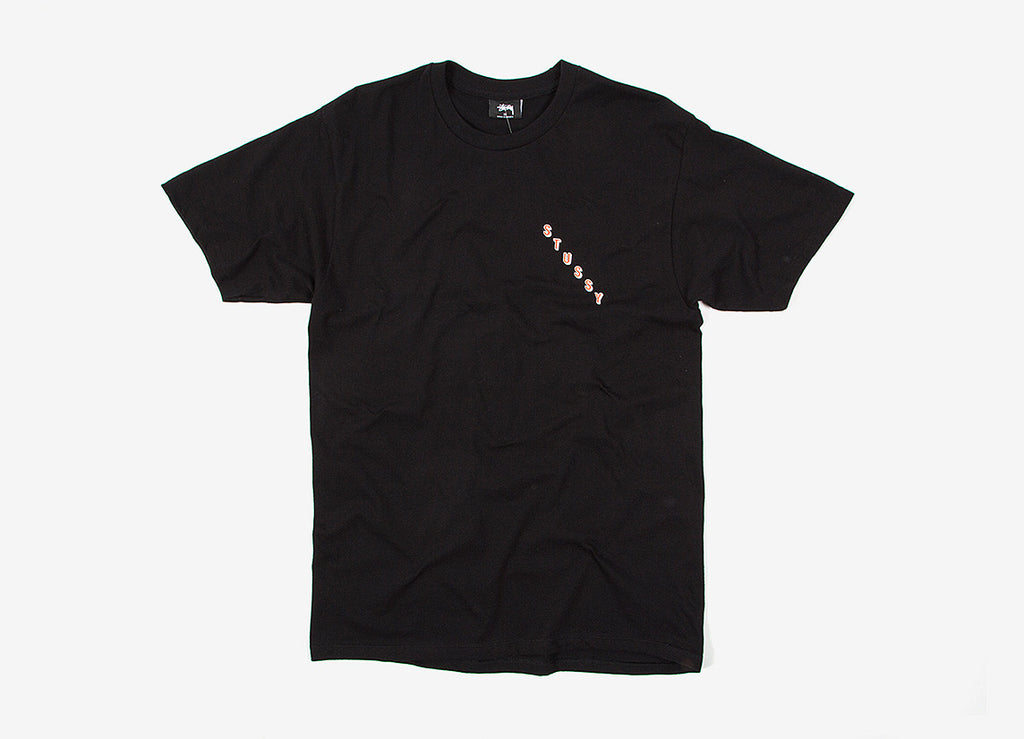 Stussy Diagonal T Shirt - Black