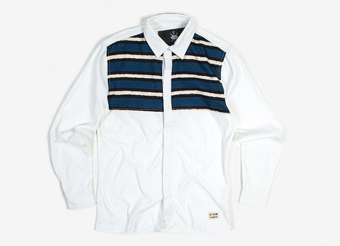 Daily Paper Striped Panel Shirt - White/Blue