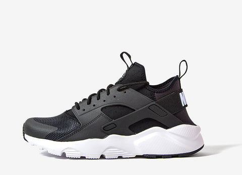 Nike Air Huarache Run Ultra Shoes - Black/White