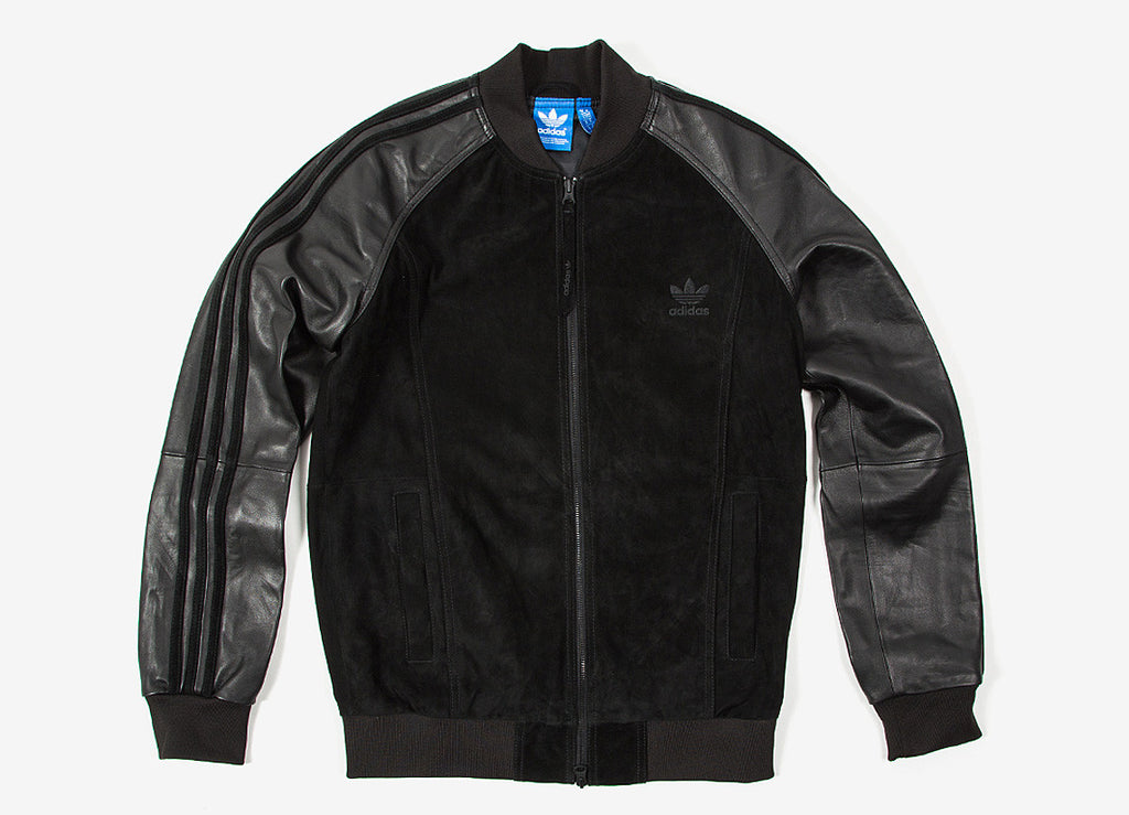 adidas Originals Lux SST Track Top Leather Jacket - Black