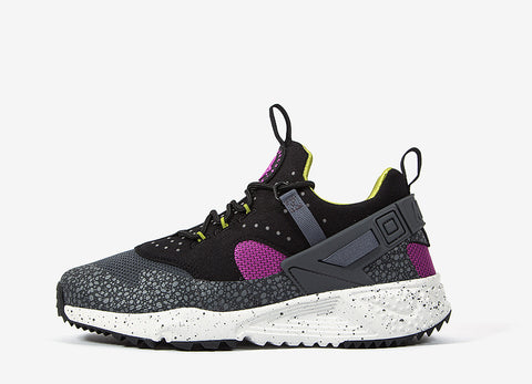 Nike Air Huarache Utility PRM Shoes - Medium Berry/Dark Grey