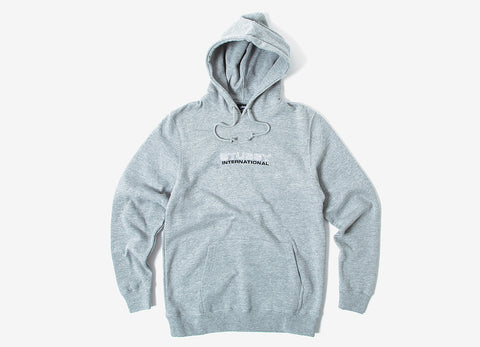 Stussy Outline Pullover Hoody - Heather Grey