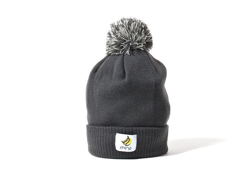 Chimp Basic Bobble Beanie - Graphite/Light Grey