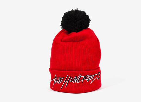 The Hundreds Blot Beanie Hat - Red