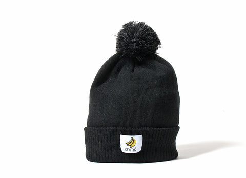 Chimp Basic Bobble Beanie - Black/Graphite