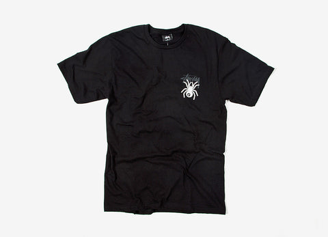 Stussy 8 Ball Spider T Shirt - Black