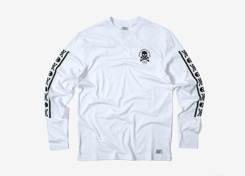 Crooks & Castles Skull Squadron Long Sleeve T Shirt - White