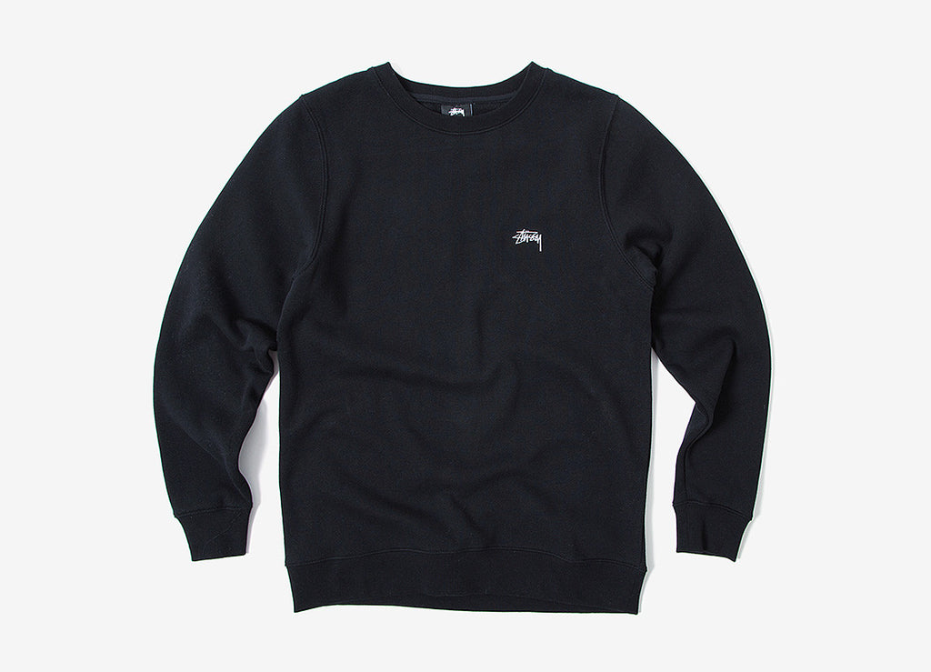 Stussy Back Arc Crewneck Sweatshirt - Black