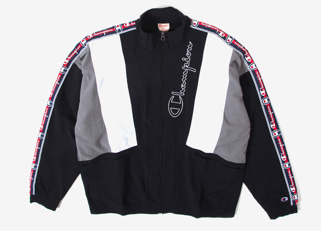 Champion Reverse Weave Full Zip Track Top - Black