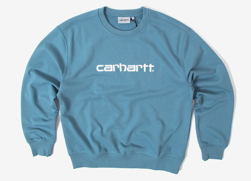 Carhartt Sweatshirt - Dusty Blue/Wax