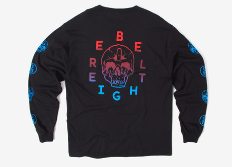 Rebel8 Fuck Face Long Sleeve T Shirt - Black