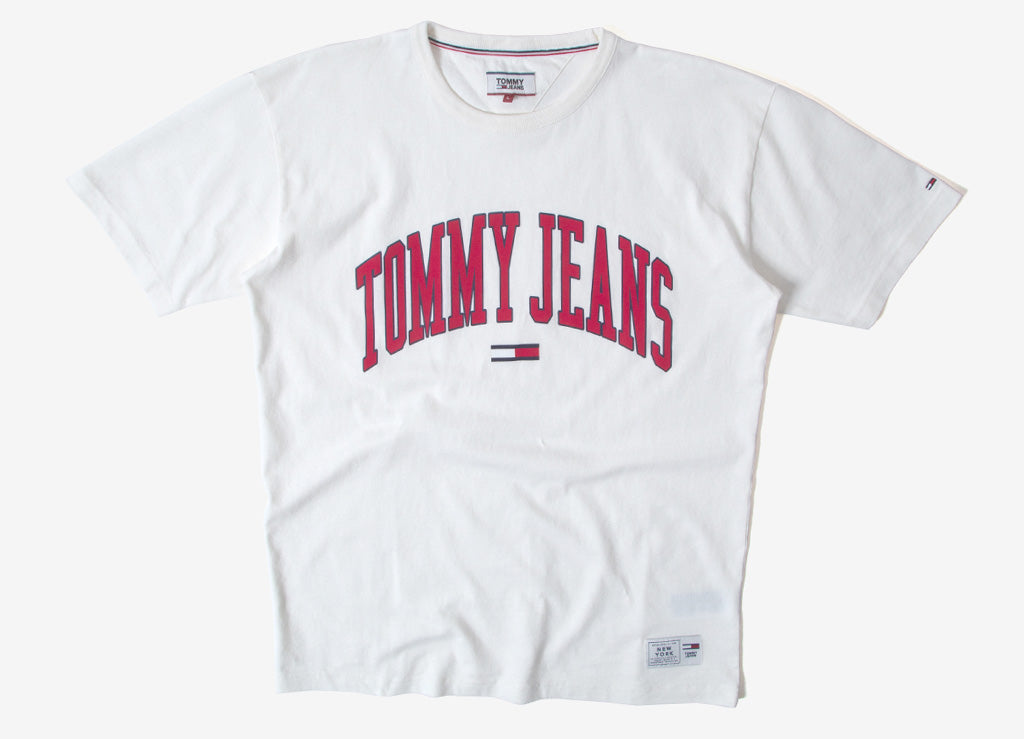 Tommy Jeans Collegiate T Shirt - Bright White