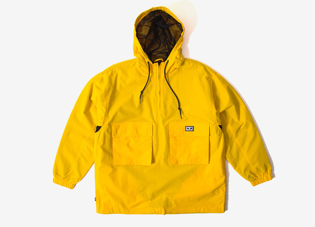 Obey Inlet Anorak Jacket - Energy Yellow