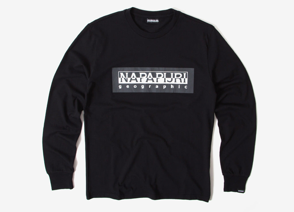 Napapijri Sele Long Sleeve T Shirt - Black