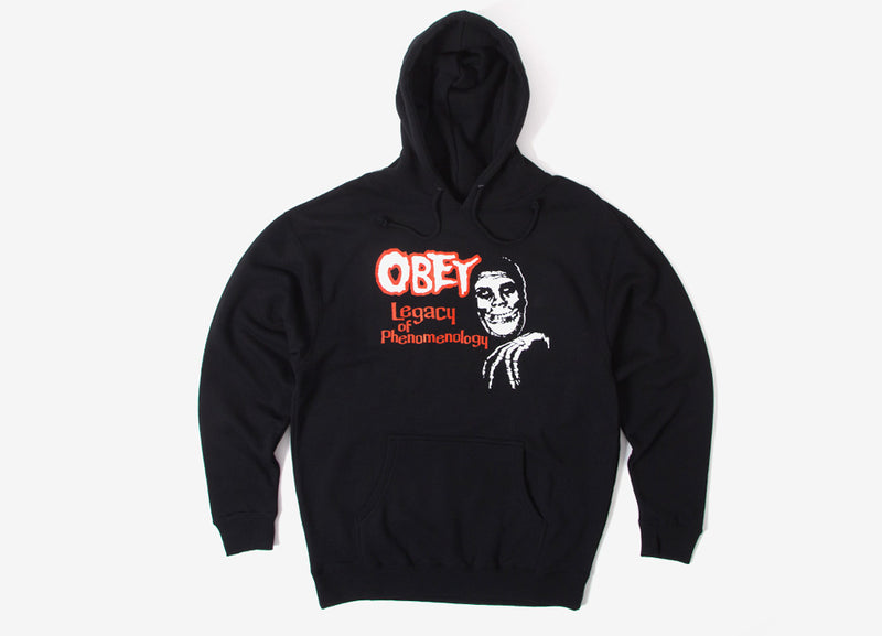 Obey x The Misfits Legacy Of Phenomenology Pullover Hoody - Black