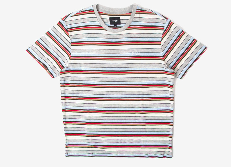 HUF Off Shore Striped T Shirt - Sky Blue