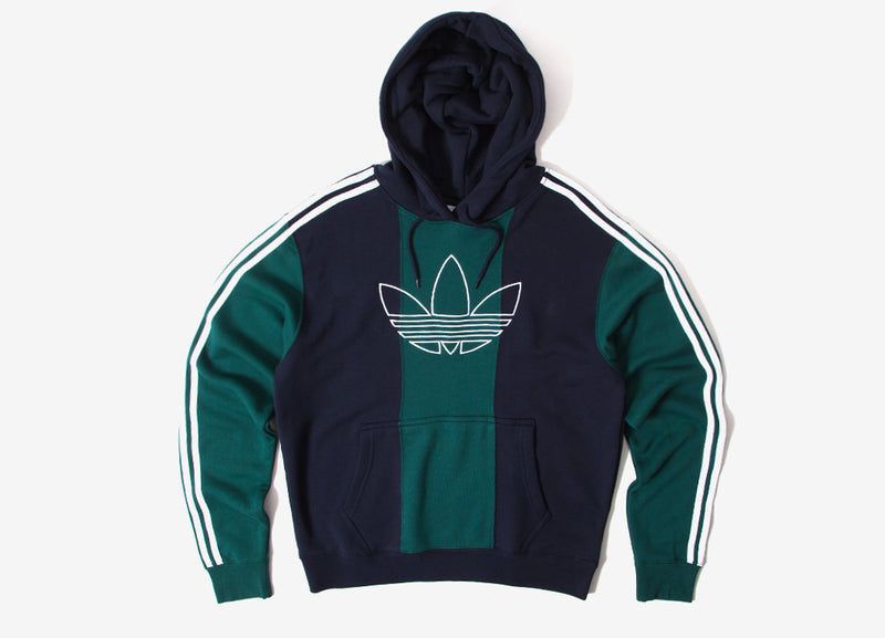 adidas Originals Off Court Trefoil Hoody - Green/Ink
